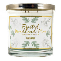 SONOMA Goods for Life™ 14-oz. Frosted Woodland Pine Candle Jar, Multicolor