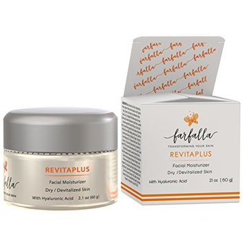 RevitaPlus Facial Moisturizer with Hyaluronic Acid for Dry & Devitalized Skin 60g / 2.1 oz. Anti aging serum nourishes, softens, moisturizes and hydrates fine lines and deep wrinkles, promoting a silk