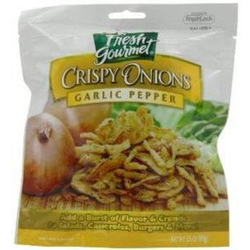 Fresh Gourmet, Crispy Onions Garlic Pepper, 3.5 OZ