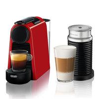 Nespresso Essenza Mini Espresso Machine with Aeroccino3, Red