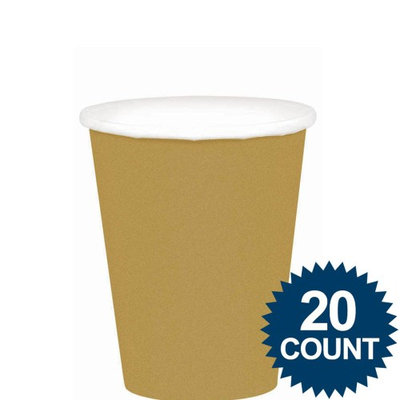 Amscan Gold 9oz Paper Cups 20ct