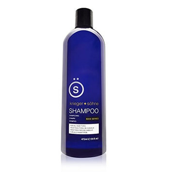 K + S Salon Quality Men's Shampoo is The Best Selling Shampoo for Men - Tea Tree Oil Infused To Eliminate Dandruff, Dry Scalp, and Prevent Hair Loss - Professional Stylist Recommended (16 oz Bottle)