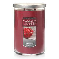Yankee Candle Cranberry Chutney Tall 22-oz. Candle Jar, Dark Red