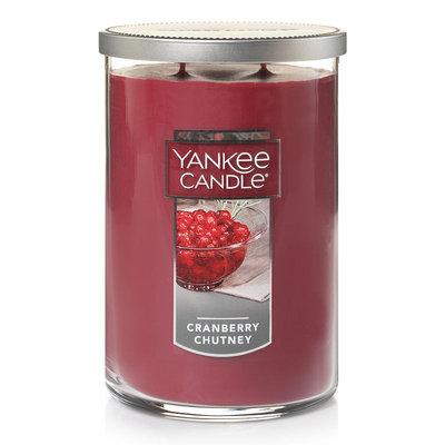 Yankee Candle Cranberry Chutney Tall 22-oz. Candle Jar, Dark Red