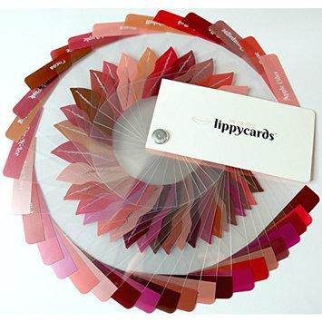 Pre Colored LippyCards Liquid Lipstick Sample 51 Color Fan Deck