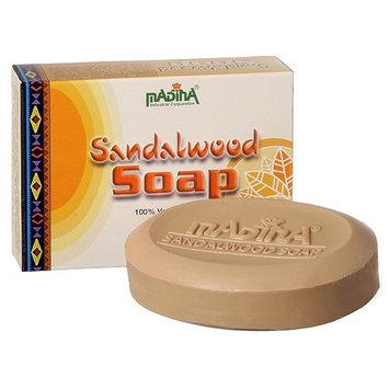 Sandalwood Infused Natural Soap Herbal Skin Cleanser Vitamin E Aloe Vera 12 Bar