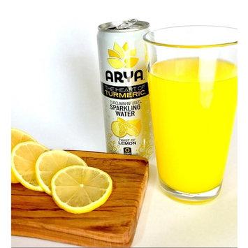 ARYA Turmeric Sparkling Water, Lemon, 12 Fluid Ounce (Pack of 12)
