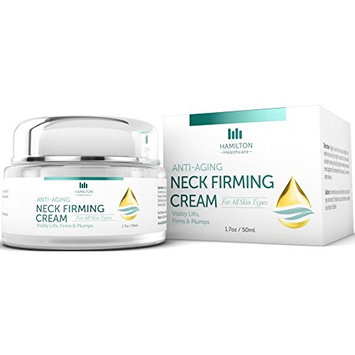 Face, Neck & Décolleté Firming Peptides Cream to Tighten & Firm Loose, Sagging & Wrinkled Skin, 50ml / 1.75 fl oz by Hamilton Healthcare