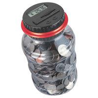 Black Series Digital Counting Money Jar, Red