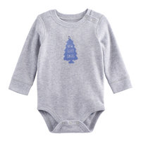 Baby Boy Jumping Beans® Graphic Shoulder Snap Thermal Bodysuit, Size: 6 Months, Light Grey