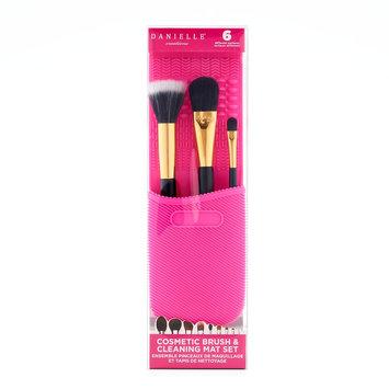 Danielle Creations Makeup Brush & Cleaning Mat Set, Multicolor