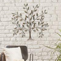 Stratton Home Decor Metal Tree Wall Decor, Multicolor