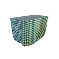 LA Linen TCcheck-fit-48x30x30-HunterGreenK20 Fitted Checkered Tablecloth White & Hunter Green - 48 x 30 x 30 in.