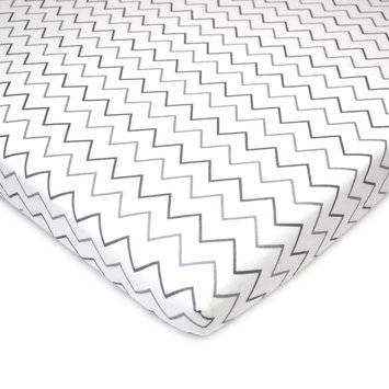 TL Care Patterned Jersey Knit Portable/Mini Crib Sheet, Grey One Size