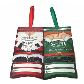 Variety Pack - Swiss Miss Hot Cocoa Mix Ornaments - Elf Marshmallow, Santa Milk Chocolate - Hang on your Christmas Tree - 1 oz