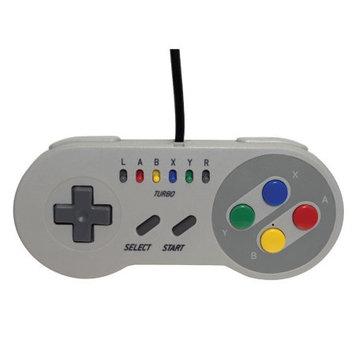 Interworks Emio The Edge Super Gamepad for SNES Classic, NES Classic, Wii U, PC, White