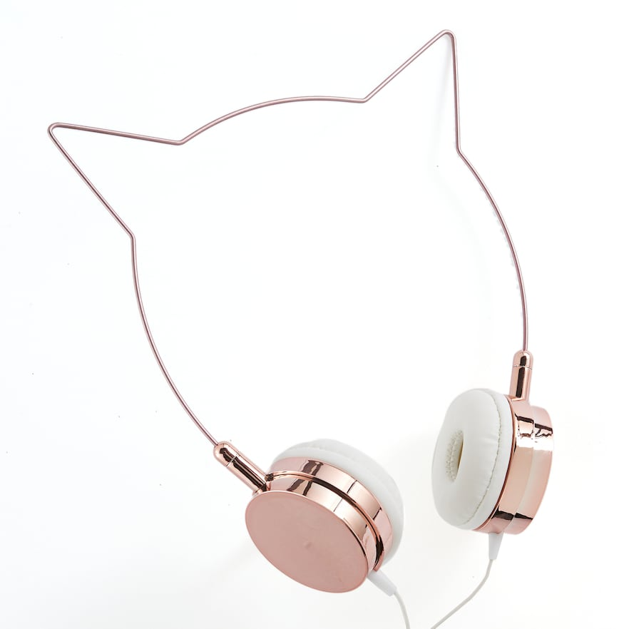 Cat Ear Wire Headphones, Pink