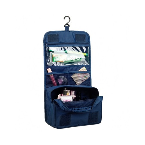 Hanging Waterproof Makeup Cosmetic Bag Portable Toiletry Bag for Travel Carry Case Navy Blue NATPLUS