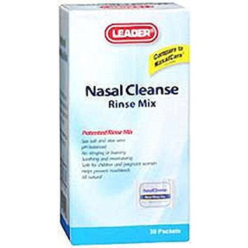 Leader Nasal Cleanse Rinse Mix Refill Packets 30 Count Per Box (12 Boxes)