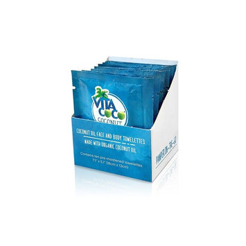 Vita Coco Organic Virgin Coconut Oil Wipes- All Natural Moisturizing Wipes for Face and Body - Great as a Hand Moisturizer or Makeup Remover - Individually Wrapped - Pack of 10 Wipes [Coconut Oil]