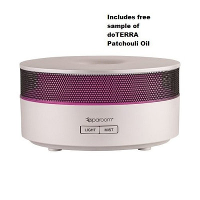 Sparoom Aromamist Ultrasonic Diffuser with 5/8 dram 40 drop sample patchouli oil
