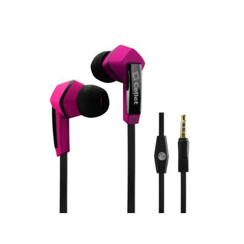 Cellet Universal 3.5mm Flat Wire Stereo Handsfree (Pink)