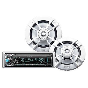 Kenwood KMR-M312BT Receiver/KFC-1633MRW Speaker Package