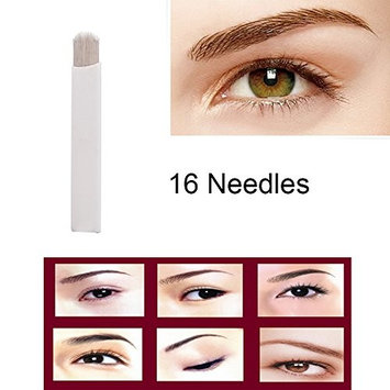 Disposable Microblading Needles - CINRA Microblading Curved Needles Permanent Makeup Manual Eyebrow Tattoo Needle Embroidery Arc Blade 100pcs