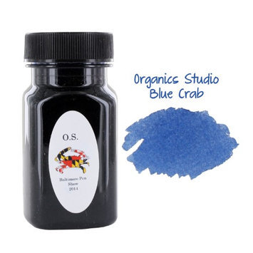 Organics Studio Organic Studios Masters of Writing Fountain Pen Bottled Ink, 55ml, Blue Crab
