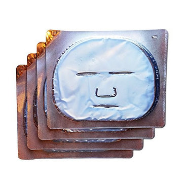 Retinol Face Masks: WHOLESALE Hydrogel Sheet Masks with Plant Collagen, Vitamin A, and Hydrating Ingredients. Reduce Redness & Brighten Skin while Combating Forehead and Mouth Wrinkles (4 MASKS)