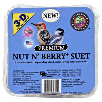 D & D Commodities, Ltd 3d Foods 3d Nut N Berry Suet
