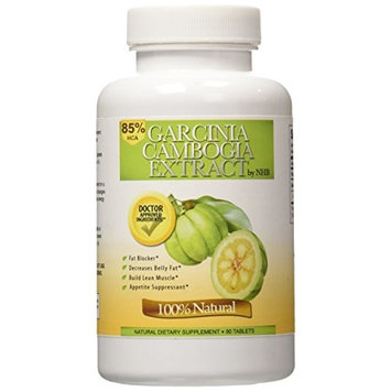 Nature's Healthy Body 85% HCA Garcinia Cambogia Extract Dietary Supplements, 90 Tablets