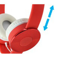 Cliptec Red Candy Muisc Stereo 3.5mm Wired Volume Control Headset Earphone On Ear Headphone w/Mic