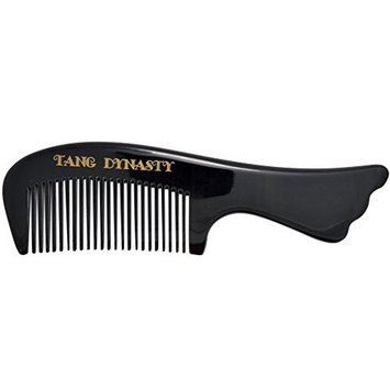 TANG DYNASTY No Static 100% Handmade Natural Fine Black Ox Horn Comb handle With Gift Box 010