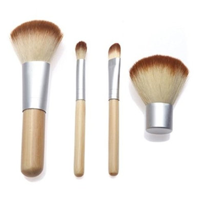 5 Pcs Makeup Brushes Set Soft Cosmetics Make Up Tool Foundation Natural Beauty Palette Eyeshadow Vanity Elegant Popular Eyes Faced Colorful Rainbow Hair Highlights Glitter Girls Travel Kit