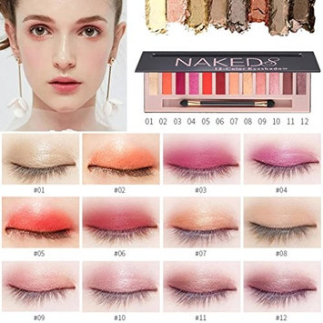 12 Colors Eyeshadow Palette Makeup,Sefter Sparkly Long Lasting Sombras Gradient Eye Shadow Powder Matt for Professional or Daily Use