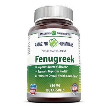 Amazing Nutrition Fenugreek Seed Supplement - 610mg Capsules
