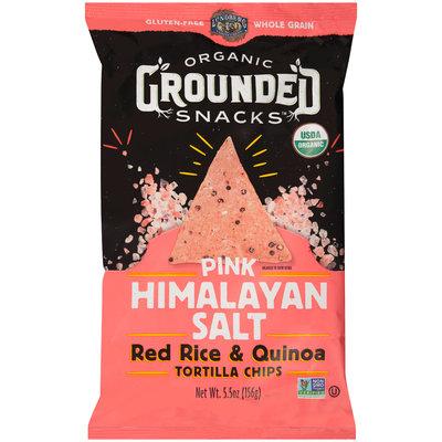 Lundberg® Organic Grounded Snacks™ Pink Himalayan Salt Red Rice & Quinoa Tortilla Chips 5.5 oz. Bag