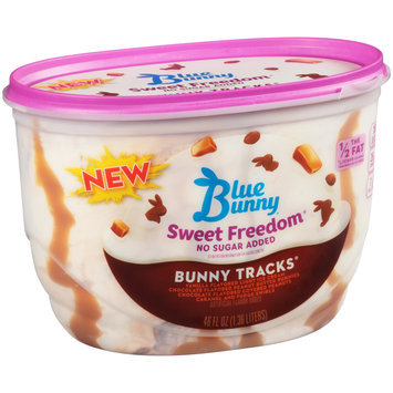 Blue Bunny Sweet Freedom No Sugar Added Bunny Tracks