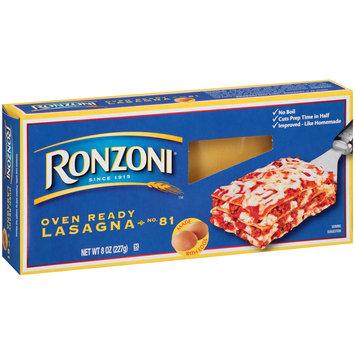 Ronzoni® Oven Ready Lasagna Pasta 8 oz. Box