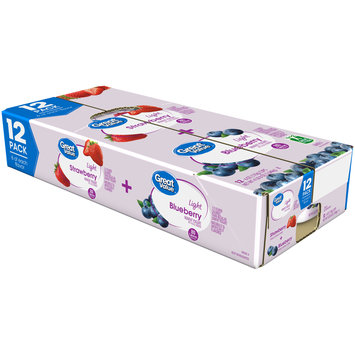 Great Value™ Strawberry & Blueberry Light Nonfat Yogurt Variety Pack 12-6 oz. Cups