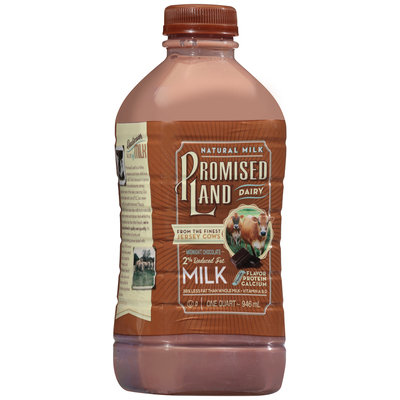 Promised Land Dairy® Midnight Chocolate 2% Reduced Fat Milk 1 qt. Plastic Bottle