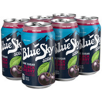 Blue Sky® Cane Sugar Black Cherry Soda 6-12 fl. oz. Cans