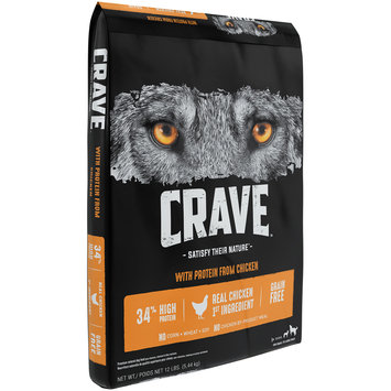 Crave™ with Protein from Chicken 1+ Years Premium Dog Food 12 lb. Bag