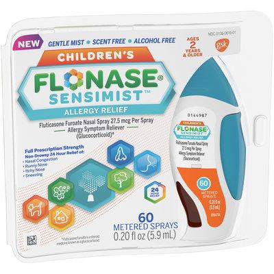 Children's Flonase Sensimist Allergy Relief Nasal Spray, Gentle Mist, Scent-Free, 60 sprays