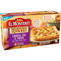 El Monterey® Morning Squares™ Chorizo, Egg & Cheese Breakfast Biscuit 4 ct Box