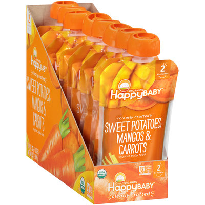 Happy Baby® Organics Clearly Crafted™ Sweet Potatoes, Mangos & Carrots Organic Baby Food 8-4 oz. Pouches