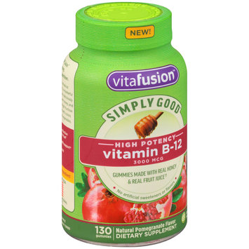 Vitafusion™ Simply Good™ Vitamin B-12 Pomegranate Dietary Supplement Gummies 130 ct Bottle