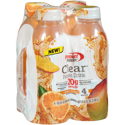 Premier Protein® Clear™ Orange Mango Protein Drink 4-16.9 fl. oz. Bottles