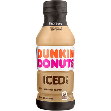 Dunkin' Donuts® Espresso Iced Coffee 13.7 fl. oz. Plastic Bottle